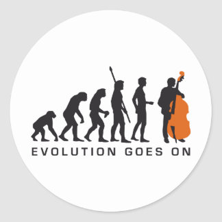 evolution bass classic round sticker