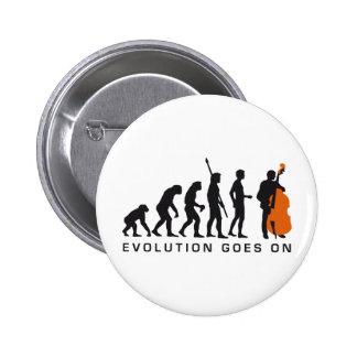 evolution bass pinback button