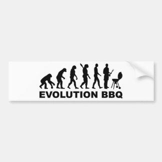 Evolution BBQ Barbecue Bumper Stickers