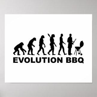 Evolution BBQ Barbecue Print