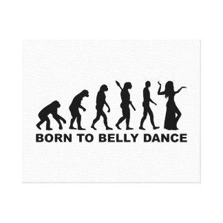 Evolution Belly dance Canvas Print
