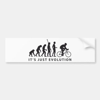evolution bicycle car bumper sticker