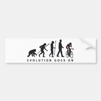 evolution bicycle racing bumper sticker
