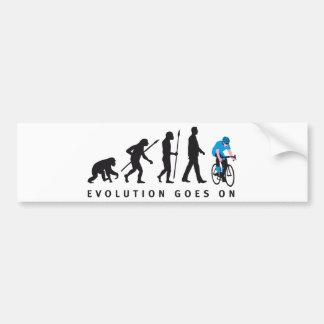 evolution bicycle racing car bumper sticker