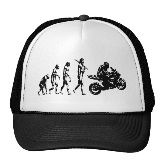 evolution bike trucker hat