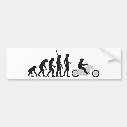 evolution biker auto aufkleber