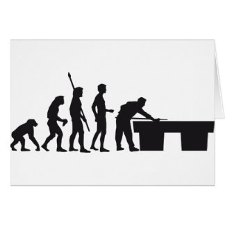 evolution billard greeting card
