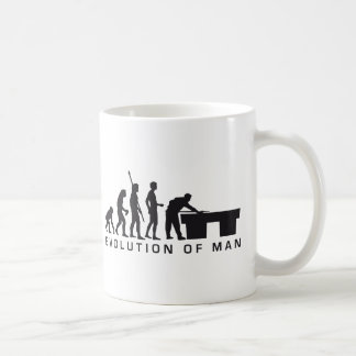 evolution billard coffee mug