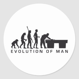 evolution billard pegatina redonda