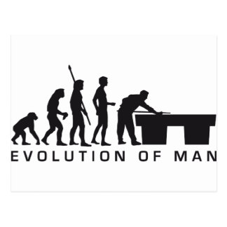 evolution billard postcard