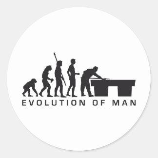 evolution billard round stickers