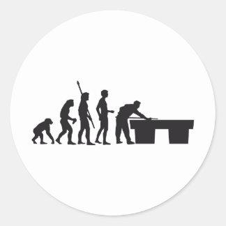 evolution billard round sticker