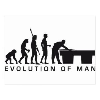 evolution billard tarjeta postal