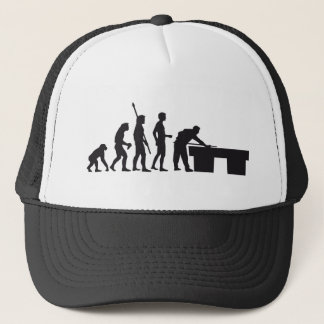 evolution billard trucker hat