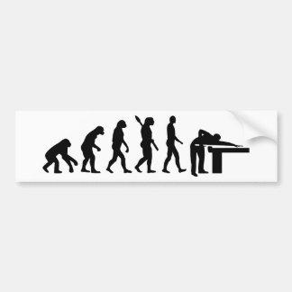 Evolution Billiards Bumper Sticker