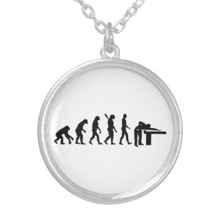 Evolution Billiards Silver Plated Necklace