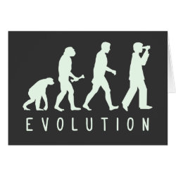 Greeting Card with Evolution: Birder design