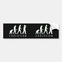 Bumper Sticker with Evolution: Birder design