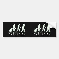 Bumper Sticker with Evolution: Birder design