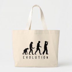 Jumbo Tote Bag with Evolution: Birder design