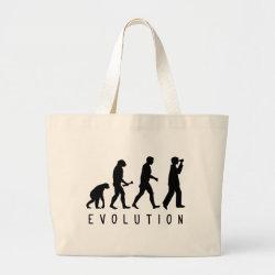 Jumbo Tote Bag with Evolution: Birder design