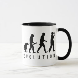 Combo Mug with Evolution: Birder design