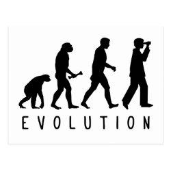 Postcard with Evolution: Birder design