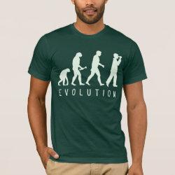 Men's Basic American Apparel T-Shirt with Evolution: Birder design