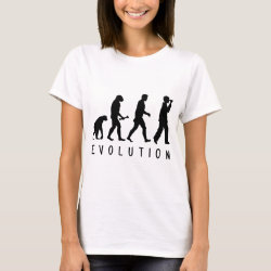 Women's Basic T-Shirt with Evolution: Birder design