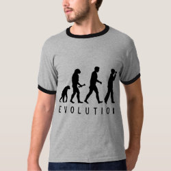 Men's Basic Ringer T-Shirt with Evolution: Birder design