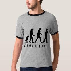 Men's Basic Ringer T-Shirt with Evolution: Birder design