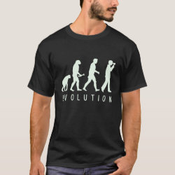 Men's Basic Dark T-Shirt with Evolution: Birder design