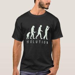 Men's Basic Dark T-Shirt with Evolution: Birder design