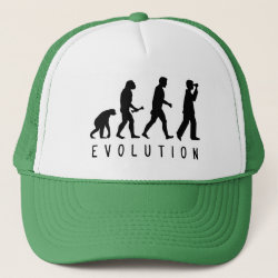 Trucker Hat with Evolution: Birder design