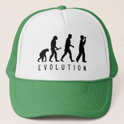 Trucker Hat with Evolution: Birder design