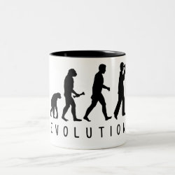 Two-Tone Mug with Evolution: Birder design