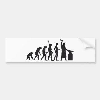 evolution blacksmith bumper sticker