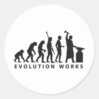 evolution blacksmith classic round sticker