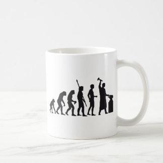 evolution blacksmith coffee mug
