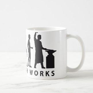 evolution blacksmith classic white coffee mug