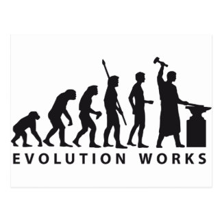 evolution blacksmith postcard