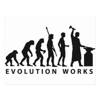 evolution blacksmith post cards