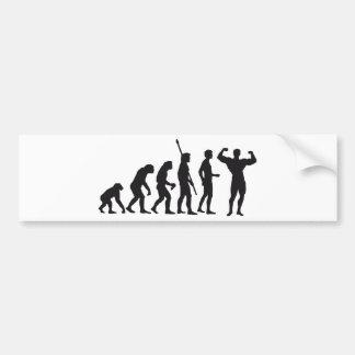 evolution bodybuilding pegatina de parachoque