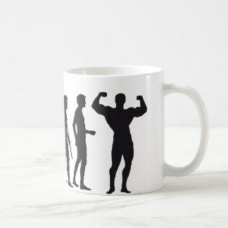 evolution bodybuilding classic white coffee mug