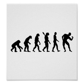 Evolution Bodybuilding muscles Posters
