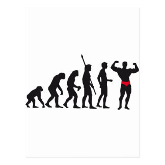 evolution bodybuilding postcard