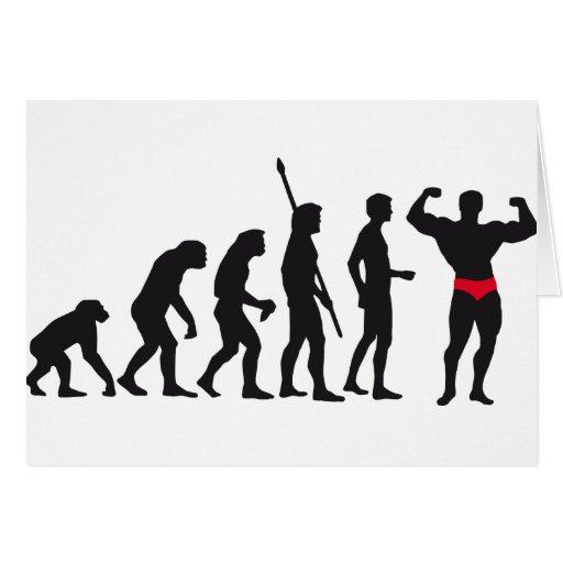 evolution bodybuilding tarjeta de felicitación
