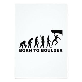 Evolution Born to Boulder 3.5x5 Paper Invitation Card