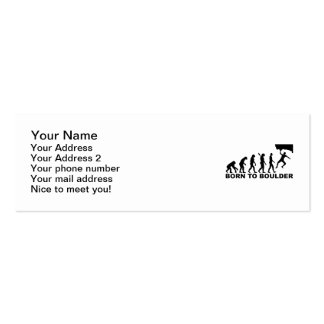 Evolution Born to Boulder Double-Sided Mini Business Cards (Pack Of 20)