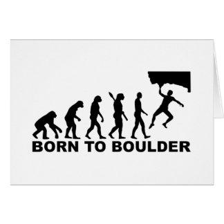 Evolution Born to Boulder Greeting Card